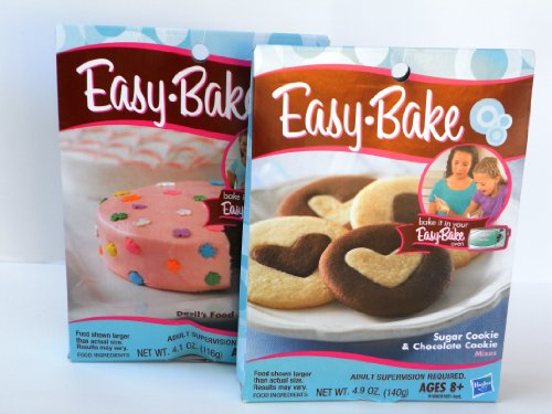 Easy Bake 2 Pk Combo Sugar Cookie & Chocolate Cookie, Devil's Food & Yellow Cake Mixes (Easy Bake Real Meal compare prices)