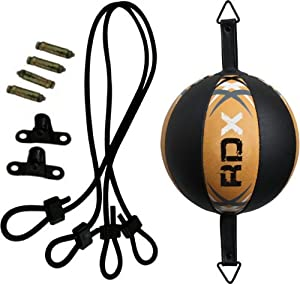 Buy RDX Leather Double End Dodge Speed Ball MMA Boxing Floor to Ceiling Punch Bag EL by RDX