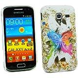 Kit Me Out FR - Kit Me Out FR - Samsung Galaxy Ace 2 i8160 Android - Coque de Protection Solide en Plastique - Papillon Color�