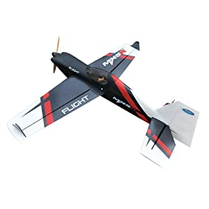 Flight New MXS-R 20CC Gas Gasoline Airplane Model RC Aircraft Remote Control 6 Channels 3D Fixed Wing ARF Plane (Color: Clear, Tamaño: Standard)