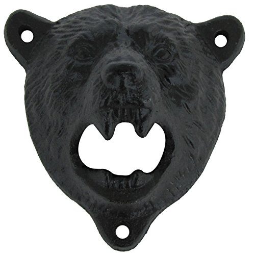 Cast-Iron-Wall-Mount-Grizzly-Bear-Teeth-Bite-Bottle-Opener