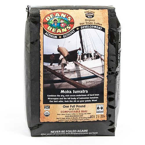 Organic Fair Trade Moka Sumatra Whole Bean Coffee (16 ounce)