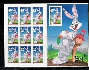 Bugs Bunny Sheet of Ten 32 Cent Stamps Scott 3137