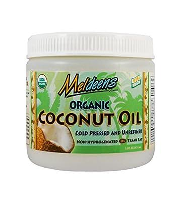 Meldeens Organic Extra Virgin Coconut Oil, 14-Ounce Jar