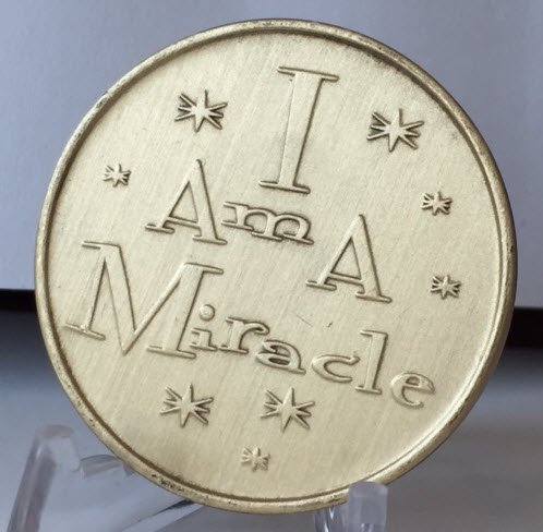 I Am a Miracle Recovery Inspirational Bronze Aa Coin Alcoholics Anonymous Recovery Affirmation Love Coins Medallion