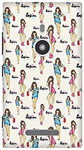 The Racoon Lean high fashion hard plastic printed back case / cover for Nokia Lumia 925