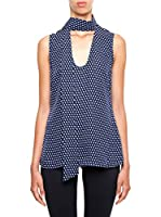 Michael Kors Top Alston Tieneck (Azul)