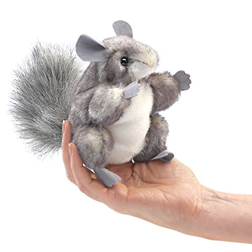 Folkmanis Mini Chinchilla Finger Puppet