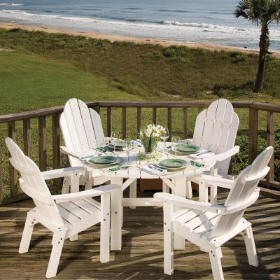 Great American Woodies Lifestyle Recycled Plastic Patio Dining Set - Seats 4 - RI182