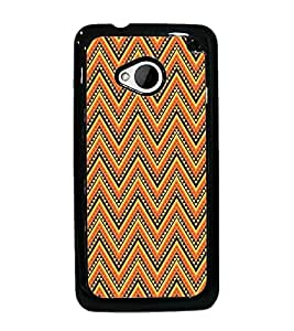 PrintDhaba Pattern D-5207 Back Case Cover for HTC ONE M7 (Multi-Coloured)