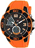 U.S. Polo Assn. Sport Men's US9483 Sport Watch with Orange Silicone Band