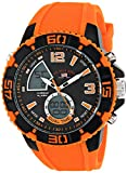 U.S. Polo Assn. Sport Mens US9483 Sport Watch with Orange Silicone Band