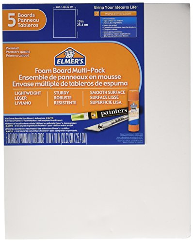 ELMERS Pre-Cut White Foam Board Sheets, 8 X 10, 5/ Pack (950020) (Foam Presentation Board compare prices)