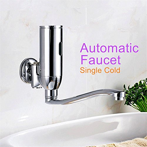 Modylee Cromato rubinetti automatici sensore singolo rubinetto di acqua fredda senso bacino lavaggio delle mani
