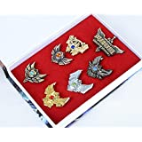 Ascase Game League of Legends Crystal Decorated Badge 7pc Set