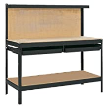 Gorilla Rack GR2102B 5-Feet Workbench with 2 Drawers, Black