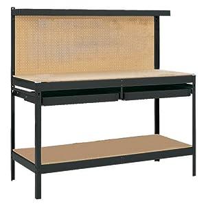 Gorilla Rack GR2102B 5-Feet Workbench with 2 Drawers, Black