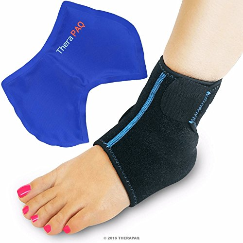 Foot & Ankle Ice Wrap with Hot & Cold Gel Pack | Adjustable, Multi-Purpose, Microwaveable, Freezable and Reusable (XS-XL) (Surgical Ice Machine compare prices)