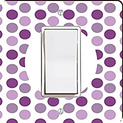 Rikki Knight World's Greatest Aunt Purple Polka Dot Single Rocker Light Switch Plate