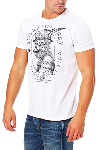 Scorpion Bay -  T-shirt - Basic - Maniche corte  - Uomo bianco Small