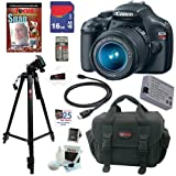 51od%2B1rgmqL. SL160  Canon EOS Rebel T3 MP CMOS Digital SLR Camera with EF S 18 55mm f/3.5 5.6 IS II Zoom Lens + 16GB Deluxe Accessory Kit 12.2