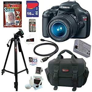 Canon EOS Rebel T3 12.2 MP CMOS Digital SLR Camera with EF-S 18-55mm f/3.5-5.6 IS II Zoom Lens + 16GB Deluxe Accessory Kit