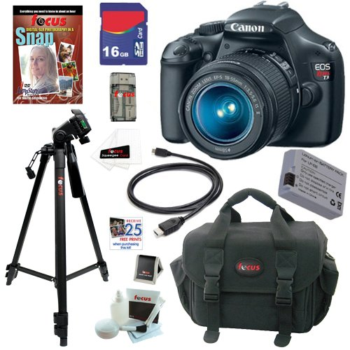 Canon EOS Rebel T3 12.2 MP CMOS Digital SLR Camera with EF-S 18-55mm f/3.5-5.6 IS II Zoom Lens + 16GB Deluxe Accessory Kit at Sears.com