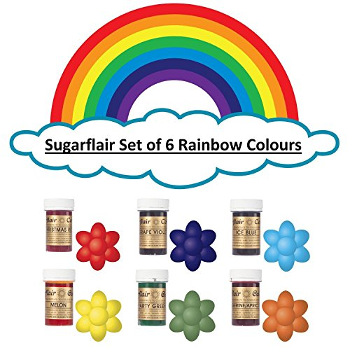 sugarflair-rainbow-set-of-6-food-colour-gel-pastes-perfect-for-cake-decorating-baking-much-more
