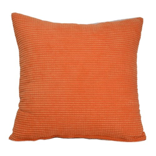 Homeclassic 18X18 Niblet Fleece Soft Throw Pillow Cover Decorative Pillow Cover Pillow Case For Sofa,Orange-Red front-107706