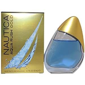 Nautica Aqua Rush Gold By Nautica Eau De Toilette Spray 3.4 OZ Nautica Aqua Rush Gold By Nautica