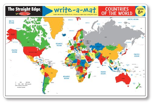 Countries of the World Write-a-Mat