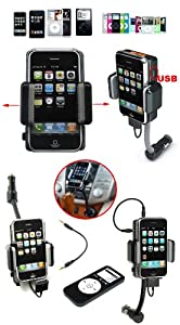 UNIVERSAL ALL IN ONE IN CAR HOLDER + CAR CHARGER + FM TRANSMITTER + REMOTE CONTROL Full 9 in 1 Hands Free Handsfree in Car Kit FOR iPod NANO TOUCH CLASSIC IPHONE 3G 3GS IPHONE 4 4G MP3 MP4 Walkman Blackberry Curve Bold Storn 8700 8520 8900 9700 HTC Desire Z HD2 HD7 MINI LEGEND BRAVO Incredible WILDFIRE Mozart Trophy G5 G6 G7 NOKIA MINI N97 N95 N85 N86 6500 N82 6600 SONY ERICSSON XPERIA X2 X10 MINI Erics Eperia X1