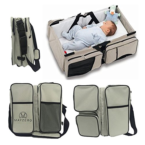 mayzero-3-in-1-baby-changing-bags-travel-bassinet-diaper-bags-portable-crib-changing-station-tote-ba