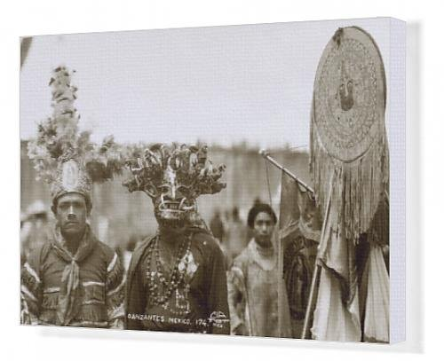 [Canvas Print of Native Dancers, Mexico] (Dance Costumes Online America)
