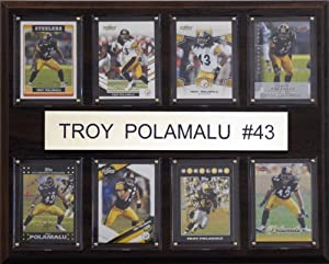 NFL Troy Polamalu Pittsburgh Steelers 8 Card Plaque by C&I Collectables