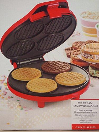 New Shop Sensio Bella Cucina 13662 Ice Cream Sandwich Maker - Red Brand New