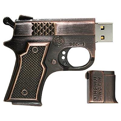 16 GB Pen Drive Pistol Shape Copper Color USB 2.0 Pen Drive MT1002