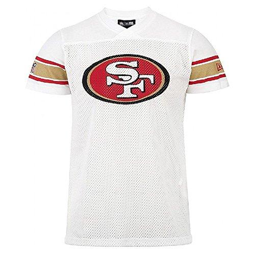 NEW ERA NFL ne96336fa16supprtrs Jrsy saf49e Sca-Maglietta maniche corta-línea San Francisco 49ers per uomo, colore: rosso, UOMO, Ne96336Fa16 Nfl Supprtrs Jrsy Saf49E Sca, rosso, XL
