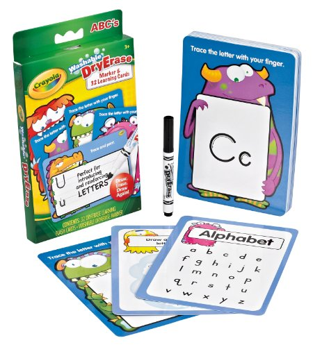 Crayola - Dry Crase Flashcards - LETTERS