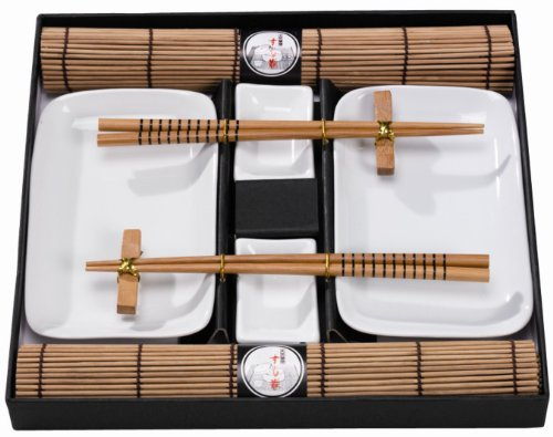 tischgeschirr japan sushi set braun f 2 personen natur. Black Bedroom Furniture Sets. Home Design Ideas