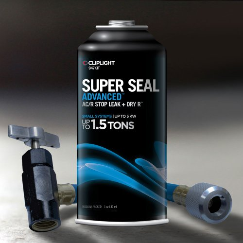 Cliplight Super Seal Advanced 947KIT - Permanently Seals & Prevents Leaks in A/C & Refrigeration Systems - Up to 1.5 TONS (R410a Leak Detector compare prices)