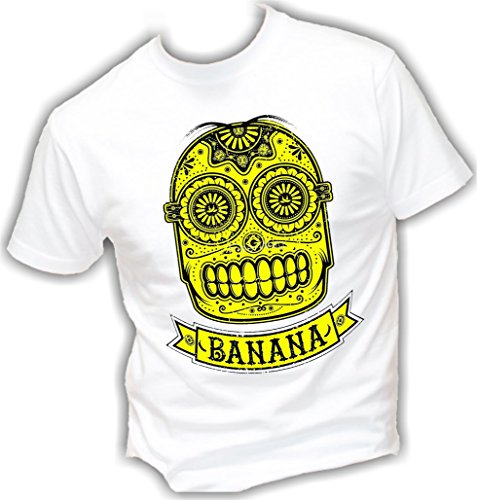 Social-Crazy-Camiseta-para-hombre-Bianco-S