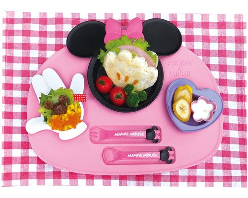 Nishiki Kasei [Meal Is Fun] Minnie Mouse Icon Lunch Plate