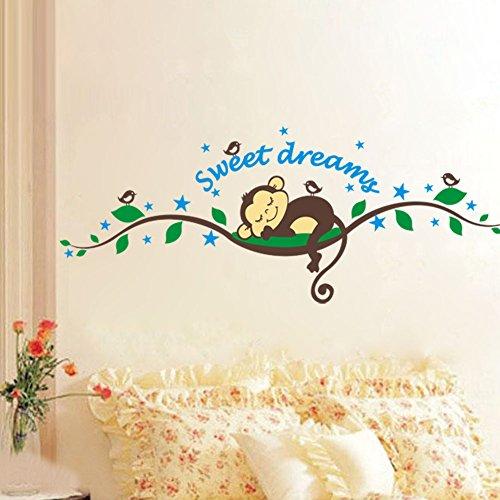 sweet-dreams-tree-brach-lovely-monkey-nurery-room-babyroom-decoration-wall-decal-wall-sticker