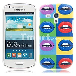 Unique Colorful Plastic Protective Case with Lip & Tooth Pattern for Samsung S3 Mini I8190