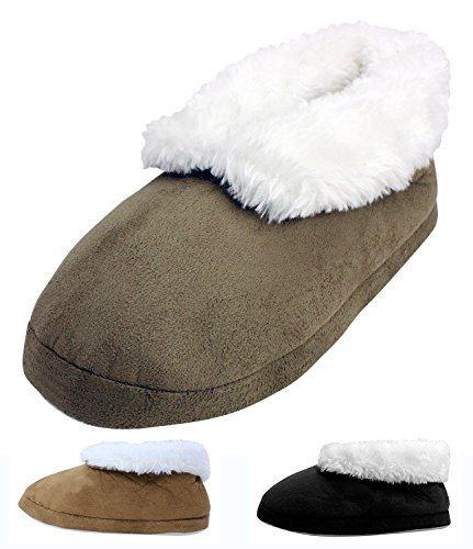 Enimay Women's Girls Fuzzy Slippers Indoor Soft Furry House Shoes Fluffy Ankle
