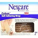 Nexcare Coban Self-Adherent Wrap, 2-Inch x 5-Yard Roll, 1 Count Box