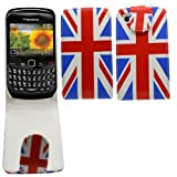 Samrick Union Jack England Specially Designed Leather Flip Case for Blackberry 8520 and 9300 Curve