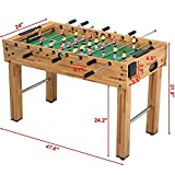 Topeakmart 48'' Foosball Table Soccer Game Indoor Arcade Family Sports...