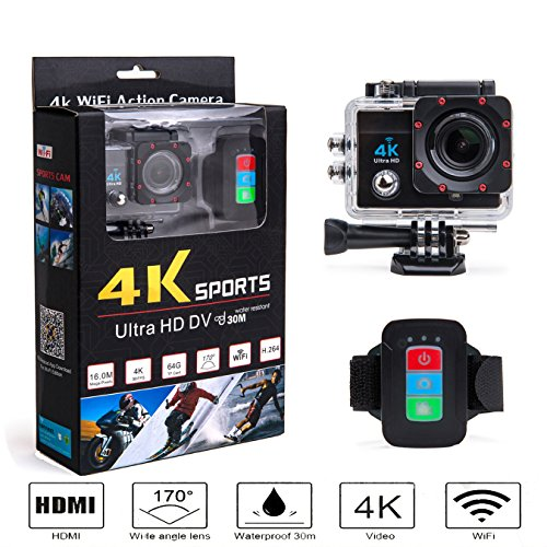 B-sea-Wireless-Remote-Control-170-Degree-Wide-Angle-Ultra-HD-16MP-4K-WIFI-Action-Camera-with-20-inch-LCD-Screen-and-100-Feet-Waterproof